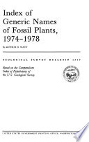 Index of Generic Names of Fossil Plants, 1974-1978