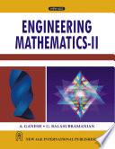 Engineering Mathematic-II, Ganesh & Balasubramanian, 2000