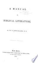 A Manual of Biblical Literature