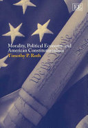 Morality  Political Economy and American Constitutionalism