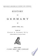 History of Germany Book