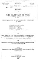 Reports of the Secretary of War