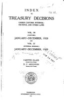 Treasury Decisions Under the Customs  Internal Revenue  and Other Laws