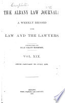 The Albany Law Journal Book