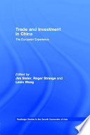 Trade And Investment In China Book PDF