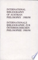 International Bibliography of Austrian Philosophy   Internationale Bibliographie Zur Sterreichischen Philosophie Book