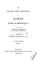 The Iliad And Odyssey Of Homer The Iliad V 3 4 The Odyssey
