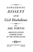 Concerning Dissent and Civil Disobedience