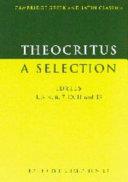 Theocritus: A Selection