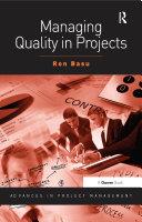 Managing Quality in Projects Pdf/ePub eBook