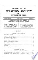 Journal of the Western Society of Engineers