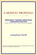 A Modest Proposal  Webster s Chinese Simplified Thesaurus Edition