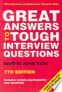 Great Answers To Tough Interview Questions Book
