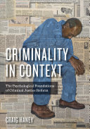 Criminality in Context Book