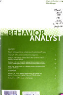 The Behavior Analyst