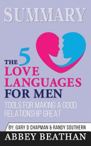 Summary of The 5 Love Languages for Men Book PDF
