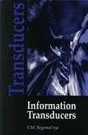 Information Transducers Book