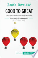 Book Review  Good to Great by Jim Collins