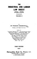 The Industrial And Labour Law Digest 1926 1959 Annotated