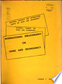 International Bibliography On Crime And Delinquency