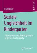 Soziale Ungleichheit im Kindergarten