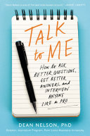 Book cover for Talk to Me by Dean Nelson