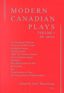 Modern Canadian Plays