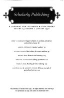 Journal of Scholarly Publishing
