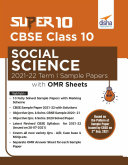 Super 10 CBSE Class 10 Social Science 2021-22 Term I Sample Papers with OMR Sheets Pdf/ePub eBook