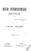 Revue internationale [ed. by F. Platel].