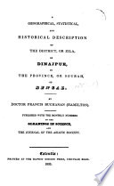 A Geographical Statistical And Historical Description Of The District Of Dinajpur By F Buchanan Hamilton