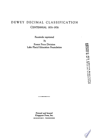 Download Dewey Decimal Classification PDF
