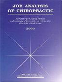 Job Analysis of Chiropractic Book