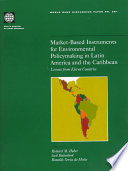 Market Based Instruments For Environmental Policymaking In Latin America And The Caribbean