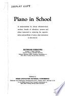 Piano in school
