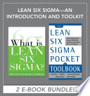 Lean Six Sigma   An Introduction and Toolkit  EBOOK BUNDLE