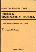 Topics in Mathematical Analysis