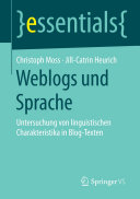 Weblogs und Sprache