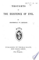 Thoughts on the existence of Evil