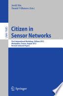 Citizen in Sensor Networks Book
