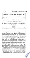 American Medicinal Plants of Commercial Importance