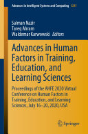 Advances in Human Factors in Training  Education  and Learning Sciences