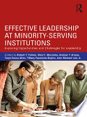 Effective Leadership at Minority Serving Institutions