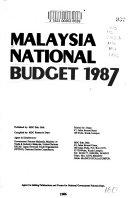 Malaysia National Budget 1987