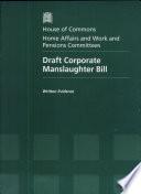 Draft Corporate Manslaughter Bill Book PDF