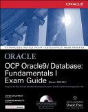 OCP Oracle9i Database  Fundamentals I Exam Guide