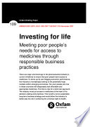 Investing For Life  Meeting poor people s needs for access to medicines through responsible business practices Book