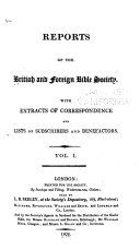 Report of the British and Foreign Bible Society