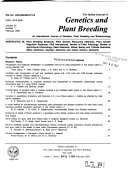 The Indian Journal of Genetics   Plant Breeding Book