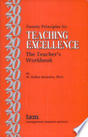 Twenty Principles for Teaching Excellence
